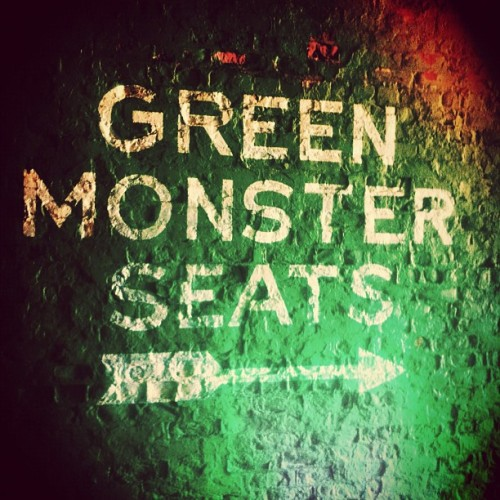 Green monster seats… #fenway #fenwaypark #bostonredsox #sox #redsox #boston #baseball  (Taken with Instagram at The Green Monster)