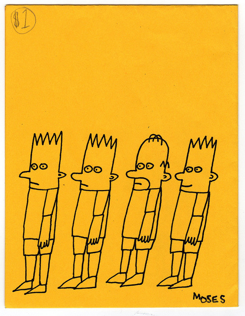 Back cover of Bart zine by Moses by fotoflow / Oscar Arriola on Flickr.