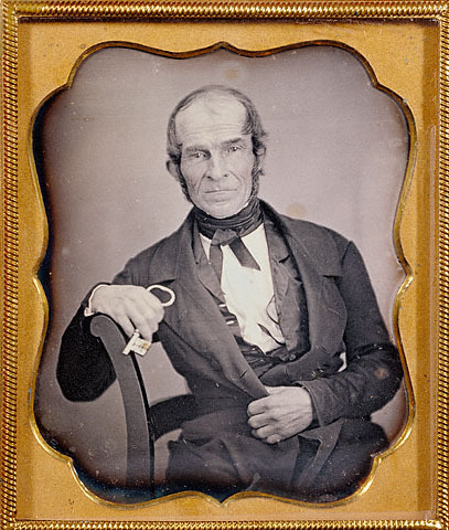 tuesday-johnson:  ca. 1844, [daguerreotype portrait of a gentleman holding a large key] via the J. Paul Getty Museum