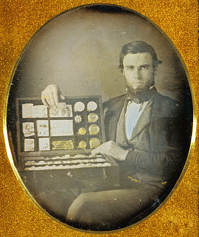 tuesday-johnson:  ca. 1850, [portrait of a jewelery salesman], Robert H. Vance via the J. Paul Getty Museum