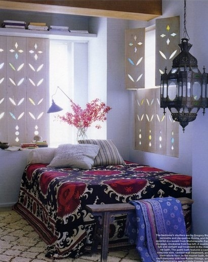 My Bohemian Home ~ Bedrooms and Guest Rooms  Love, love, love Suzani textiles