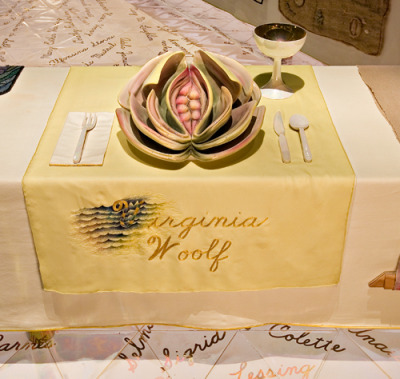 The Dinner Party by Judy Chicago. (Brooklyn Museum)