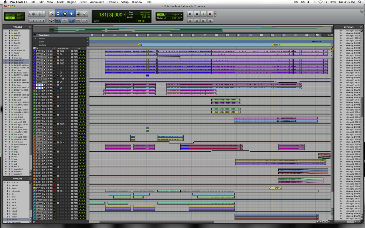 Mixing a Revengineers song. 62 tracks. I need a bigger screen.