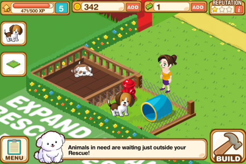 "Calling all animal lovers! Have you played our new, free game Fluff Friends Rescue? You can rescue animals in the game while actually helping animals in real life! We're not the only ones excited about it: From App Advice:  Fluff Friends Rescue ™ (Free) by SGN is a universal time management ""plate spinning"" game similar to the time management apps Diner Dash and Cake Mania. This adorable version is not food related at all, but pet related. Rescue lost puppies and kittens, fix their boo-boos and put them up for adoption.   Overall, this universal time management game is fun and very charming.  From Yahoo:  Purchasing Humane Society of the United States branded items throughout the game will translate to vital funding for the nation's largest and most effective animal protection organization. One hundred percent of the net proceeds from the sale of these items will go directly to The Humane Society of the United States' Animal Rescue Team which assists local authorities during natural disasters and man-made cruelty situations such as puppy mills and animal fighting rings.  From Pocket Gamer:  Updates to the game will add a PetFinder feature, highlighting real life pets available for adoption as well as branded merchandise. ""Fluff Friends Rescue goes above and beyond the message that adopting shelter pets is important,"" said Betsy McFarland, vice president, companion animals for HSUS. ""It makes the point that in addition to a loving home, pets need proper nourishment, regular grooming, play time and quality medical care; these vital messages about pet care are what elevates Fluff Friends Rescue from other pet games and why we're excited to be involved.""  From 148 apps:  ""There's almost always something to do. While a stray dog is being tended to, a lost kitten can be brought in for a clean-up. If all the stations are occupied, the cuties in the adoption pens can be cared for to keep them happy. If all that's done, messes around the compound can be cleaned to earn some extra experience (good for unlocking new facilities and breeds) and funds. And there's almost always something to build.""   ""It's downright addicting.""  Adorable creatures need your help. Download Fluff Friends Rescue on iTunes! You can also ""Like"" the Fluff Friends Rescue Facebook page to receive updates about the game."
