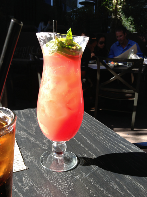 Blood Orange Lemonade at Wilshire Restaurant