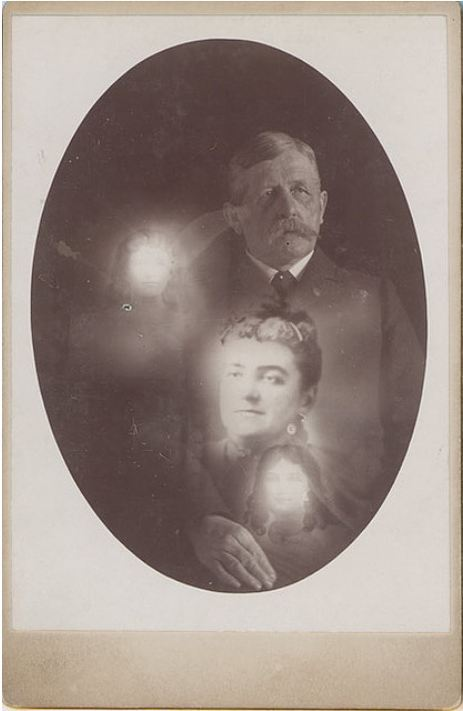 ca. 1902, [Self-portrait of Robert Boursnell surrounded by spirits], Robert Boursnell via Photo_History, Flickr