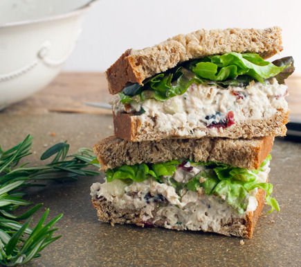 foodopia:  cranberry pecan chicken salad sandwich: recipe here