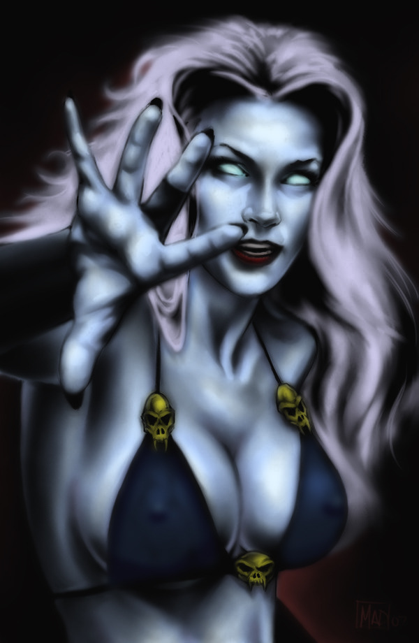 bullet-in-the-eye:  Lady Death: by Tarakian