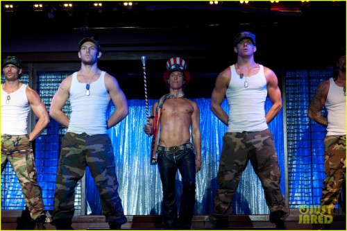 Magic Mike - coming out June 29th 2012 I'm super looking foward to see it…you can imagine why :)