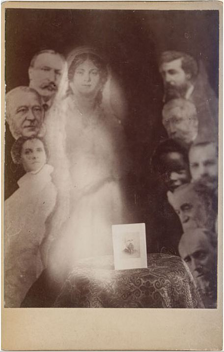 ca. 1902, [Cabinet Card of Cabinet Card Surrounded by Spirits], Robert Boursnell via Photo_History, Flickr