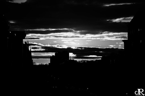POTD:  Black and White Sunset