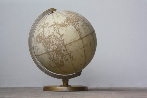 "Sooner than Later Sanded World Globe12""x12""2011by Augustina Woodgate"