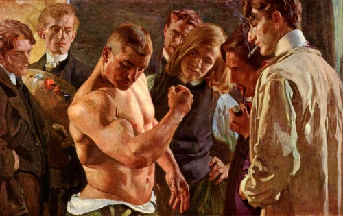 "Osmar Schindler  Muscles 1907 I think it should be called ""Muscle Mary""   appreciation"