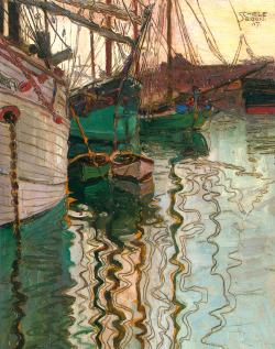 rhade-zapan:  Sail Boats in Water by Egon Schiele