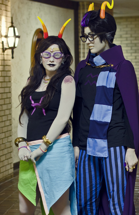 just trolling another picture of me and my Eridan. P: Bairey I want to take some more pictures! I'm getting a better wig soon ;3; maybe AB sometime or something whenever we can do this shit up? Me as Feferi Sodii.tumblr.com as Eridan Lindzar.tumblr.com as our brilliant photographer ;3;