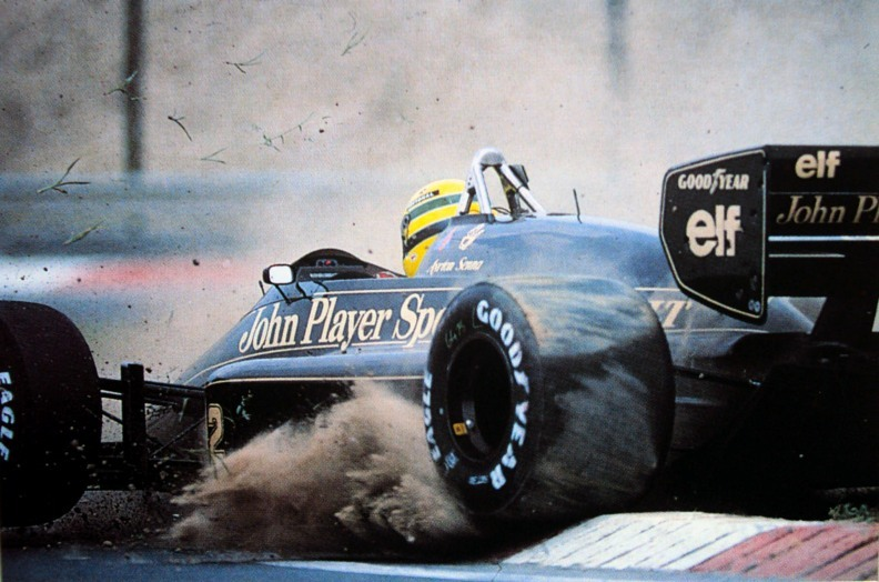 fuckyeahlotus:  Ayrton Senna in the Lotus 98t at the 1986 Hungarian Gp