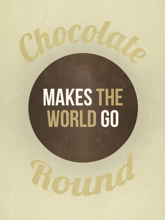 rainydaysandblankets:  shal! {chocolate makes the world go round - six word story every day}