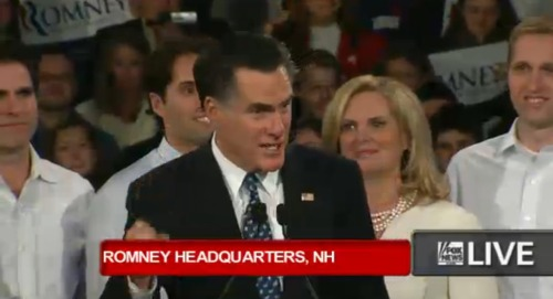 "Mitt Romney on winning New Hampshire: ""What defines us as Americans is our unwavering conviction that it must be better and it will be better. That conviction guides our campaign."" … ""The president has run out of ideas … now he's running out of excuses."""