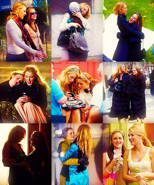 Blake and Leighton on the set of Gossip Girl: Season 2  I miss them!!
