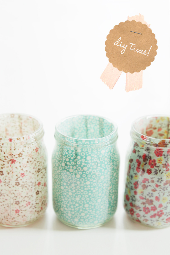 littlecraziness:  (via fellowfellow – Sweet DIY Votives)