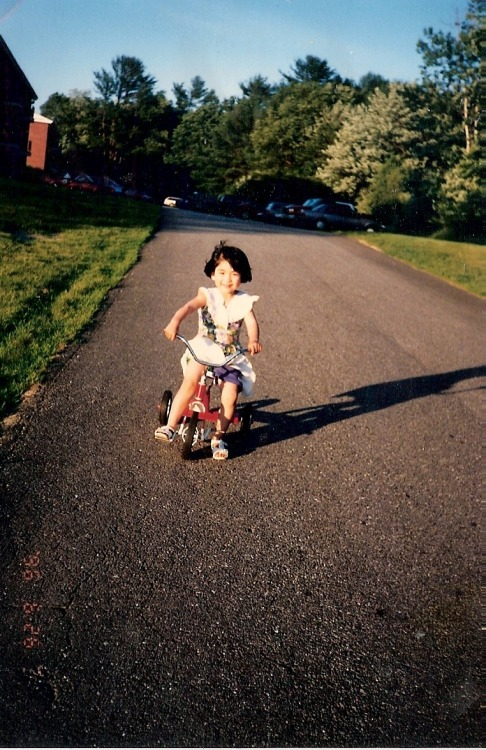 I'm my happiest, when I'm free. Free as when I was three. Free when a bike steers me.