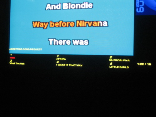 Possibly the best karaoke lineup ever.