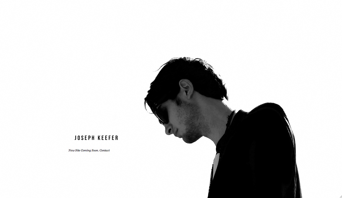 Reworking my site, temp holding page featuring Asa Fox in Raf Simons, shot by Ethan James.