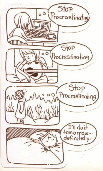 exploding-zombies:  ghost-bustier:  Hey look someone made a comic about me.  At least they're practising a hobby and going for walks rather than every panel being like the first one.