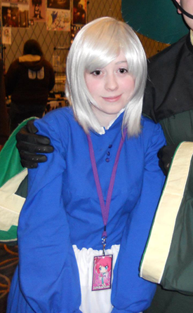 I found this picture of myself from Ichiban Con, and it appears as though I took a very large dose of Benadryl before going to the con….hahahBut this is what I meant about my eyes not liking contact lenses, for some reason my eyes just get very drowsy looking when I wear contacts :C But I didn't want to be a Sophie with blue eyes! uguguguguguI feel so bad for this guy I took the picture with, because it looks like I'm drugged, I totes ruined his picture hahah D:also I am extremely pale