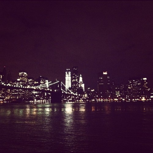 Where the lights meet… #river #city #lights  (Taken with instagram)