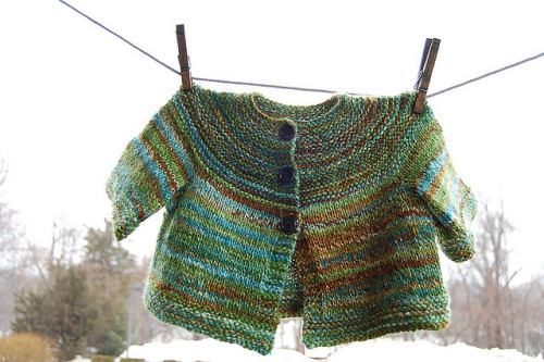 annaharo:  february baby sweater by knitting school dropout on Flickr.