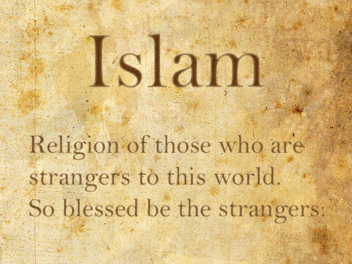 islamicthinking:  So blessed be the strangers.