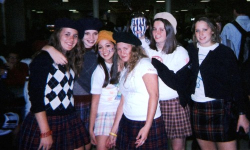 berets, argyle, and plaid.  class of '05!!
