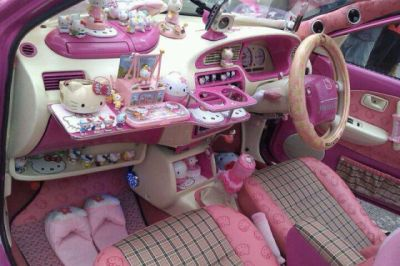 Hello Kitty Car OMG