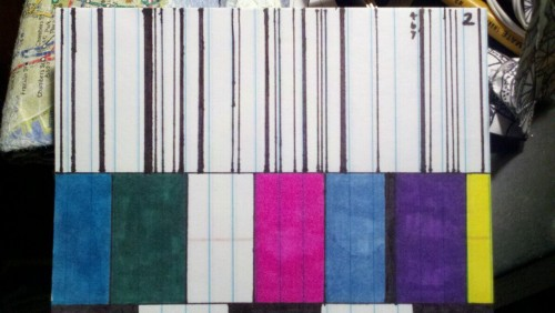 Barcode/TV colorblock
