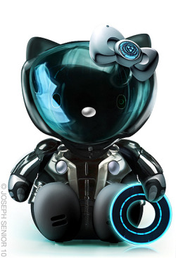 Tron Hello Kitty!! And so many other awesome Hello Kitties here (via abduzeedo).