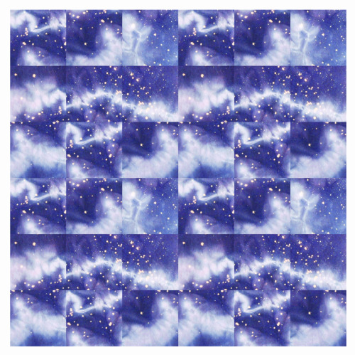 patternaday2012:  Day 12 - Celestial Puzzle. Photograph of hand dyed and painted textile. Digitally arranged.
