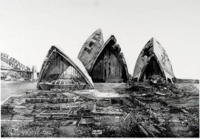 Hisaharu Motoda's Indication-Opera House, Sydney , 2010. from: 2112 IMAGINING THE FUTURE Various artists RMIT Gallery, 344 Swanston Street Until January 28  who wants to go with me to this? also, the article this is attached to is really strange.