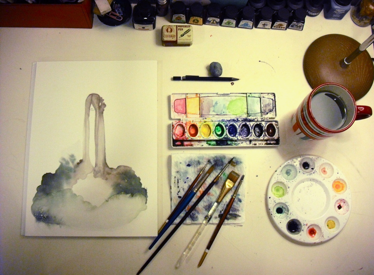 Watercoloring. Watercoloroloring. You?