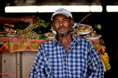 Vegetable seller at Nadi Market