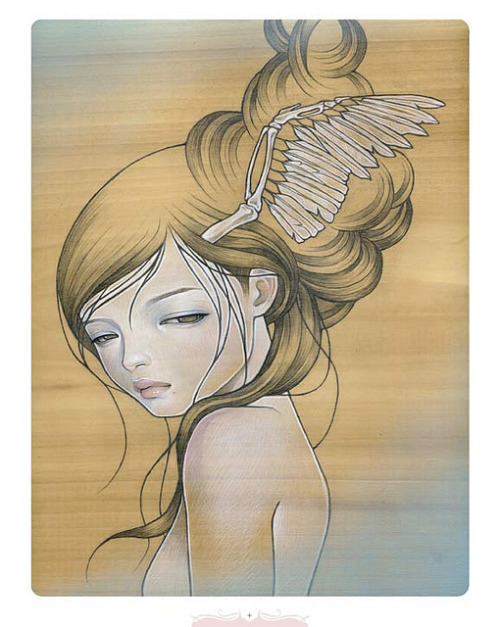 Audrey Kawsaki HF Coll.2 Print on Flickr.Audrey Kawasaki's Print for the Hi-Fructose Collected 2 Box Set