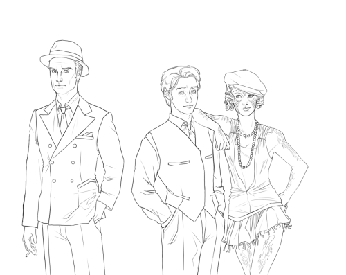 experimentalmadness:  avec-la-foi:  1920's X-men: First Class WIP  ….Boardwalk X-Men Empire. And everything was suddenly perfect.