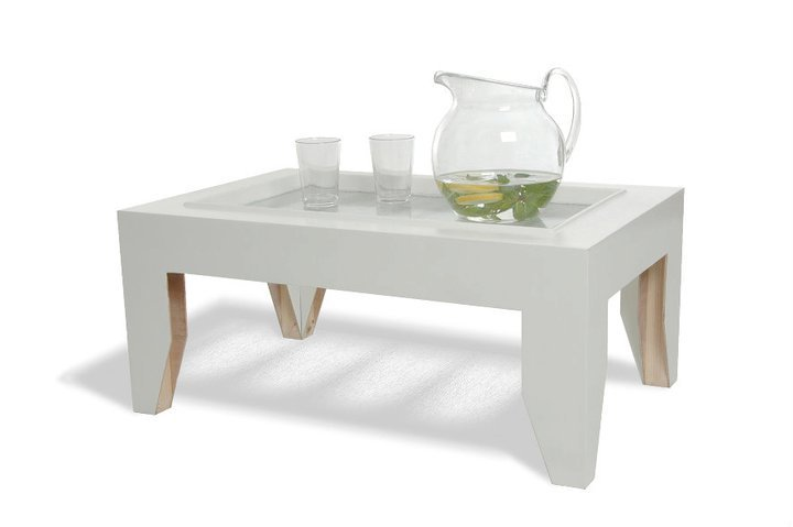 Upcycle door coffee table by Naama Futerman via Green Prophet