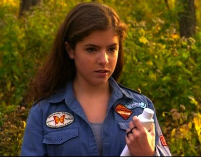 Before showing the world her amazing singing/dancing talents in Pitch Perfect, befriending Bella in Twilight, or impressing George Clooney in Up In The Air, Anna Kendrick appeared in the film Camp. Great find, mllejeune! Follow Us On Twitter at @ISpyAFamousFace!