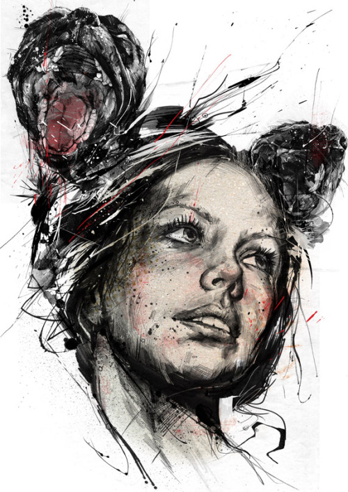 """Hound"" by Russ Mills. Newest Artist Crush: Russ Mills. http://www.byroglyphics.com I'm in love for sure."