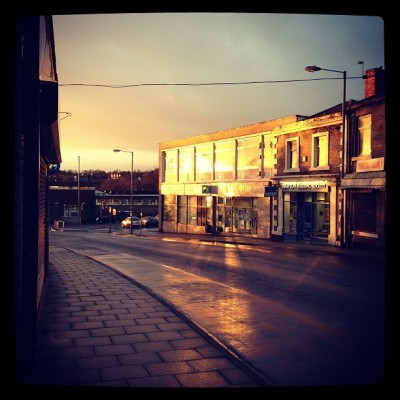 Morning Cleckheaton #morning #sun #sunrise #town #ipopyou #instagood #instagram #iphone #bradford  (Taken with instagram)