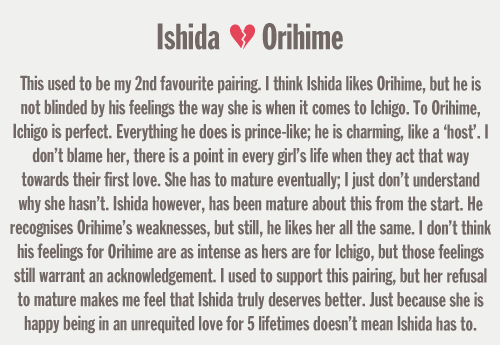 yes because Ishida is/was so madly in love with Inoue. yes because Inoue is suffering so hard.
