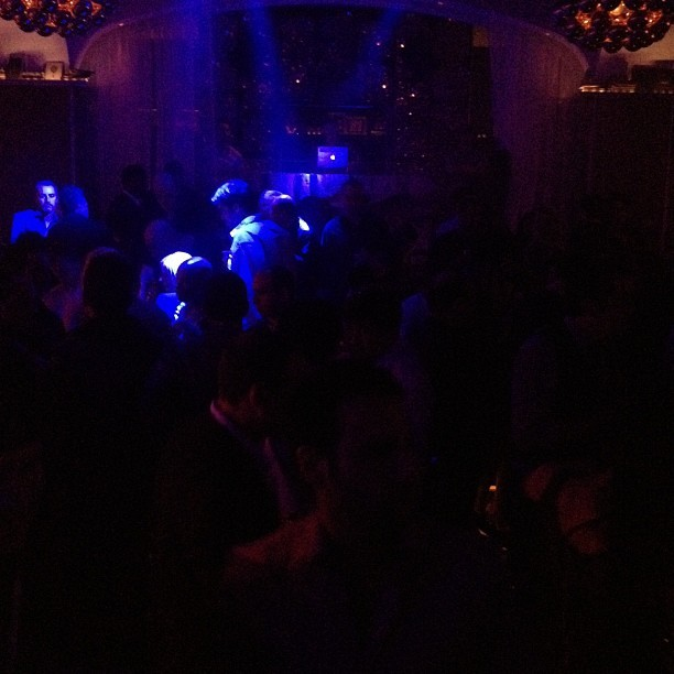 The Microsoft after party at CES is packed and that is a Mac the DJ is using. (Taken with Instagram at Bellagio Hotel & Casino)