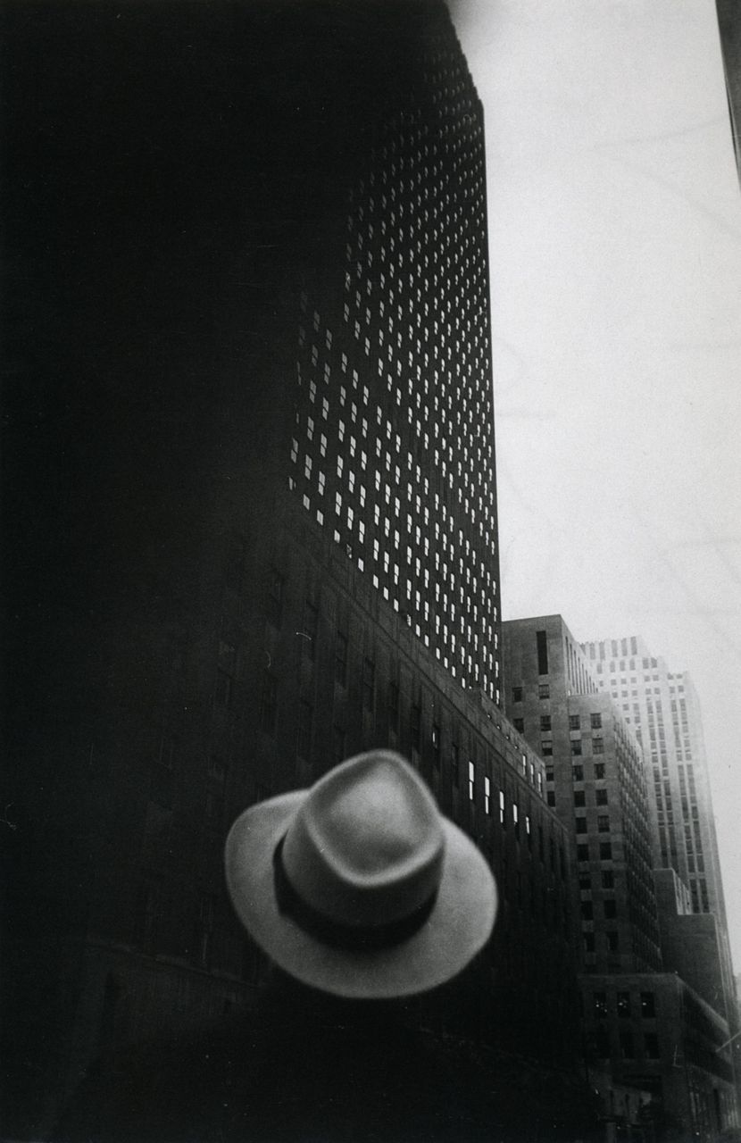 wehadfacesthen:  Looking Toward RCA Building at Rockefeller Center, New York City, 1949, a photo by Louis Faurer
