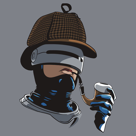 tshirtroundup:  Robo Holmes Tshirt by popephoenix. Available from RedBubble.  Haha
